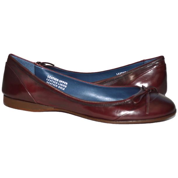 Amelia Dip Dyed Burgundy Nappa Leather Ballerina Flat full-size #1