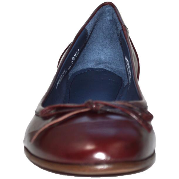 Amelia Dip Dyed Burgundy Nappa Leather Ballerina Flat full-size #2