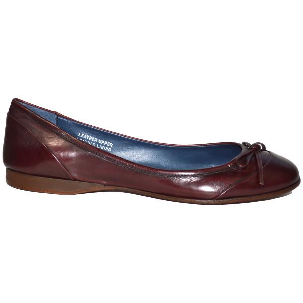 Amelia Dip Dyed Burgundy Nappa Leather Ballerina Flat full-size #3
