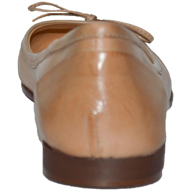 Amelia Dip Dyed Cream Nappa Leather Ballerina Flat thumb #4