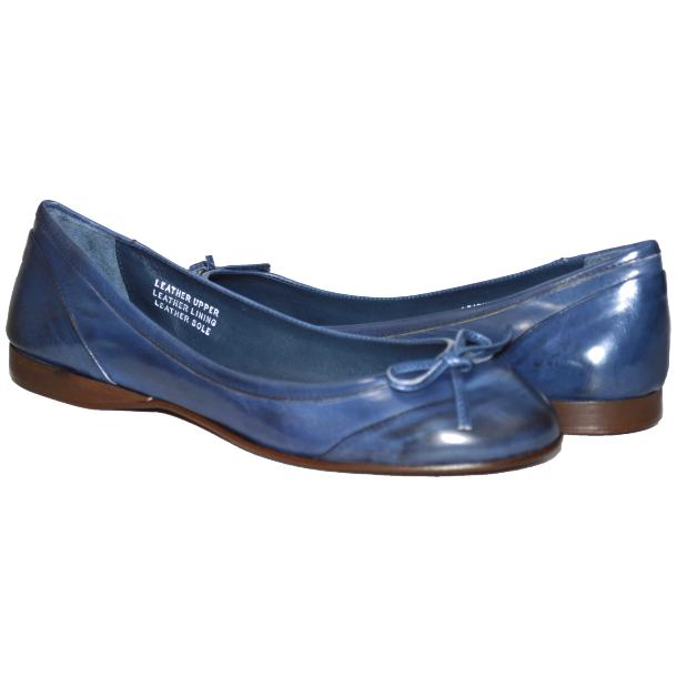 Amelia Dip Dyed Blue Nappa Leather Ballerina Flat thumb #1