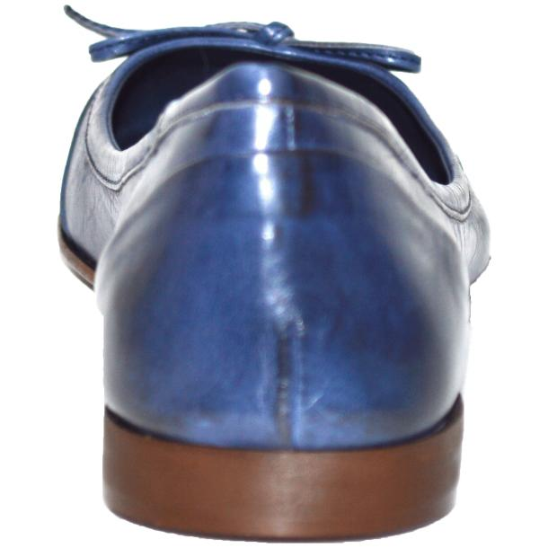 Amelia Dip Dyed Blue Nappa Leather Ballerina Flat thumb #4