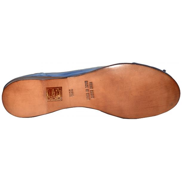 Amelia Dip Dyed Blue Nappa Leather Ballerina Flat full-size #5