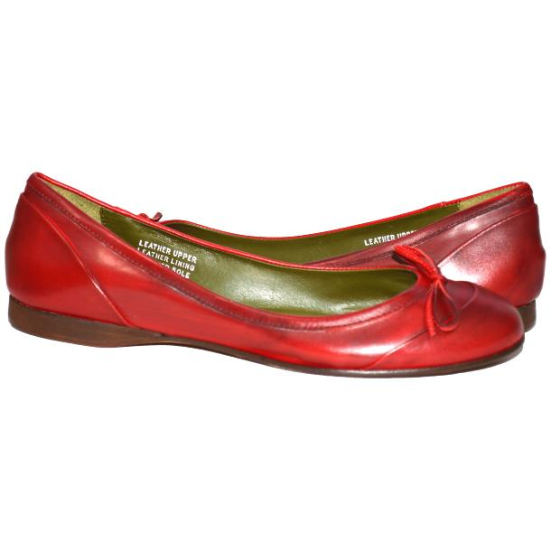 Amelia Dip Dyed Red Nappa Leather Ballerina Flat full-size #1