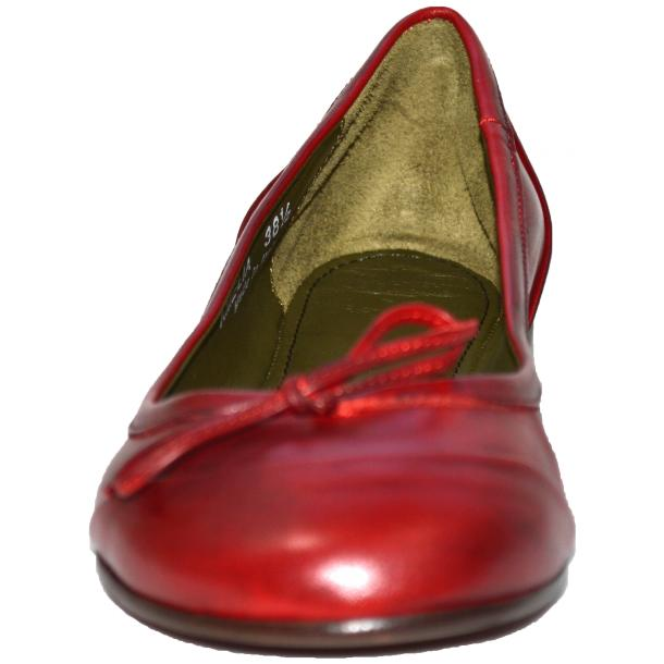 Amelia Dip Dyed Red Nappa Leather Ballerina Flat thumb #2