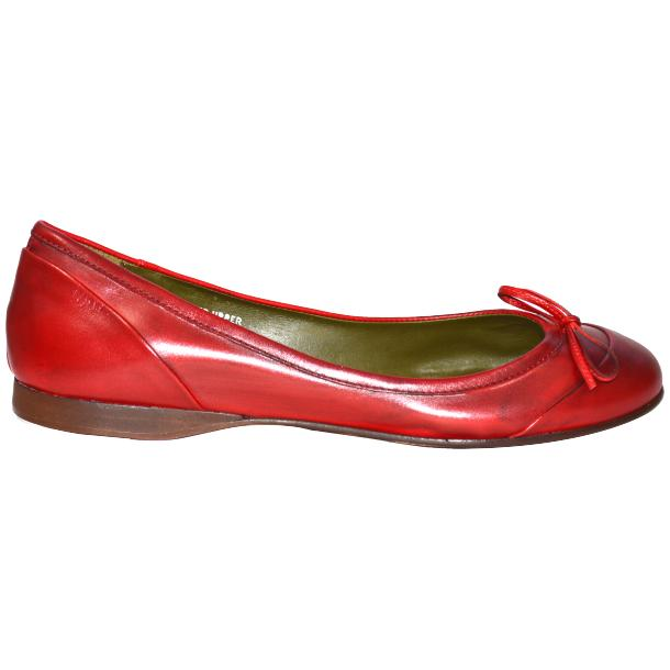 Amelia Dip Dyed Red Nappa Leather Ballerina Flat thumb #3