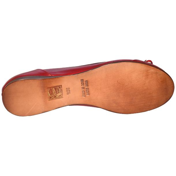 Amelia Dip Dyed Red Nappa Leather Ballerina Flat thumb #5