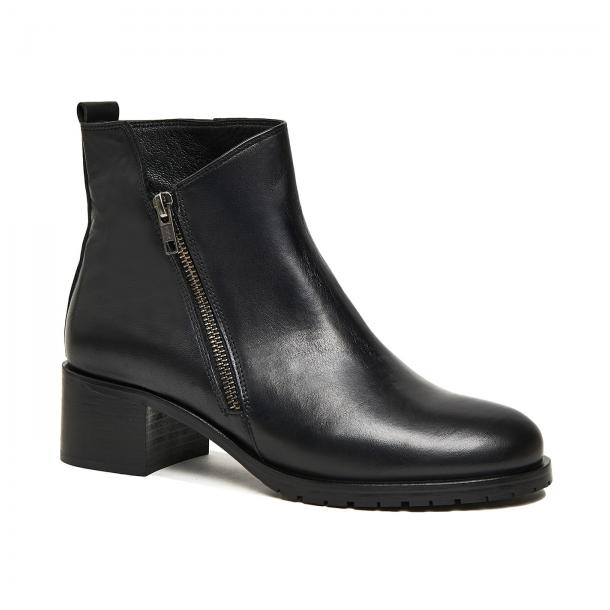 Galena Black Leather Ankle Boot full-size #1