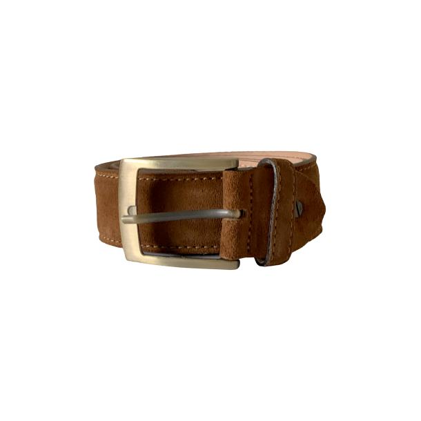 Suede Brick Brown Belt full-size #1