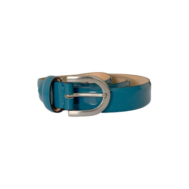 Patent Leather Teal Blue Belt full-size #1