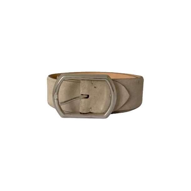 Suede Off White Belt full-size #1