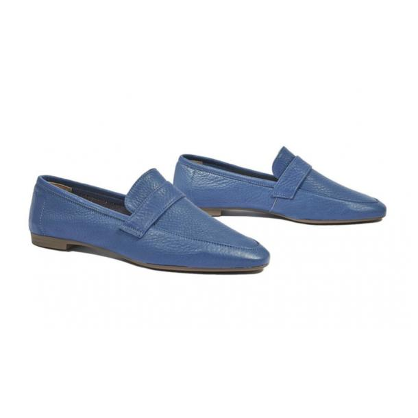 Fulvia Blue Leather Loafer  full-size #1