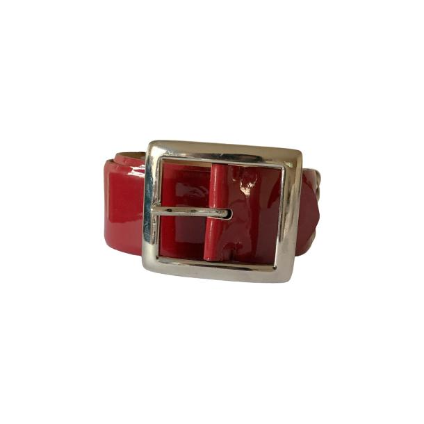 Patent Leather Red Belt full-size #1