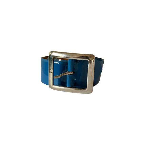 Patent Leather Blue Belt full-size #1