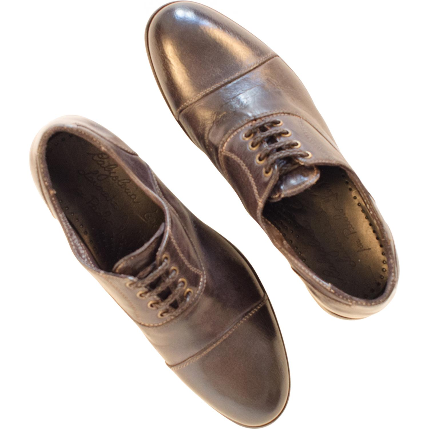 Melissa Dip Dyed Stone Grey Leather Oxford Shoes Paolo Shoes