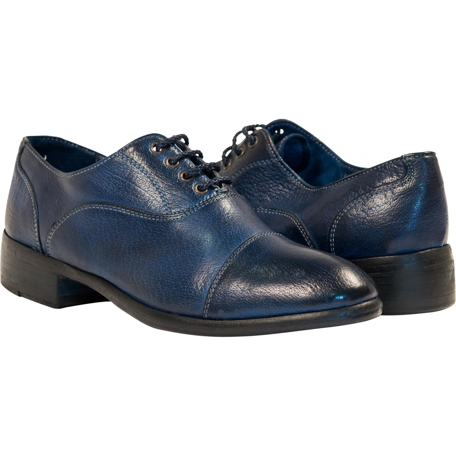 Mens Casual Lace Up Shoes Blue
