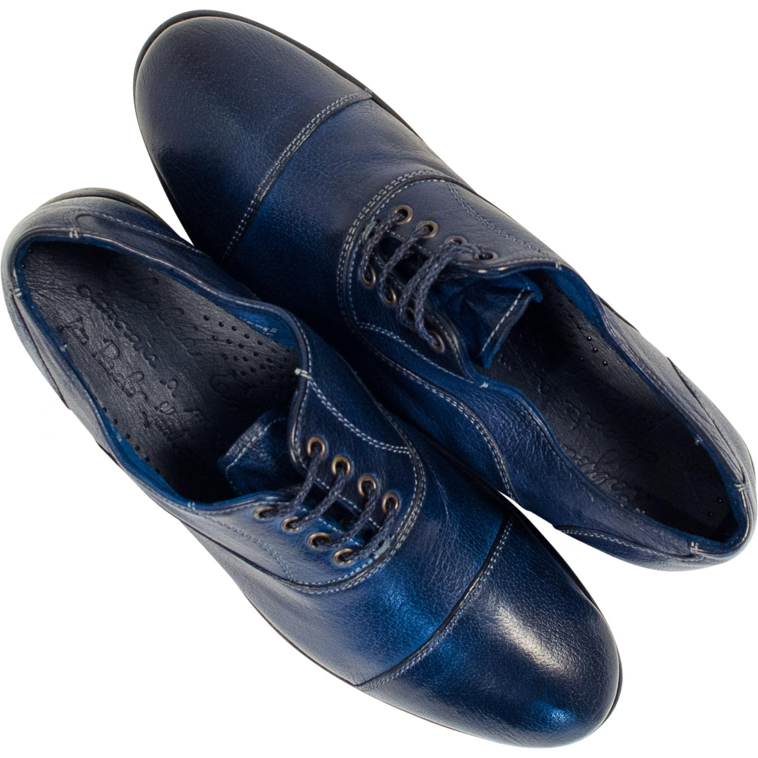 Melissa Dip Dyed Blue Leather Oxford Lace Up Shoes Paolo