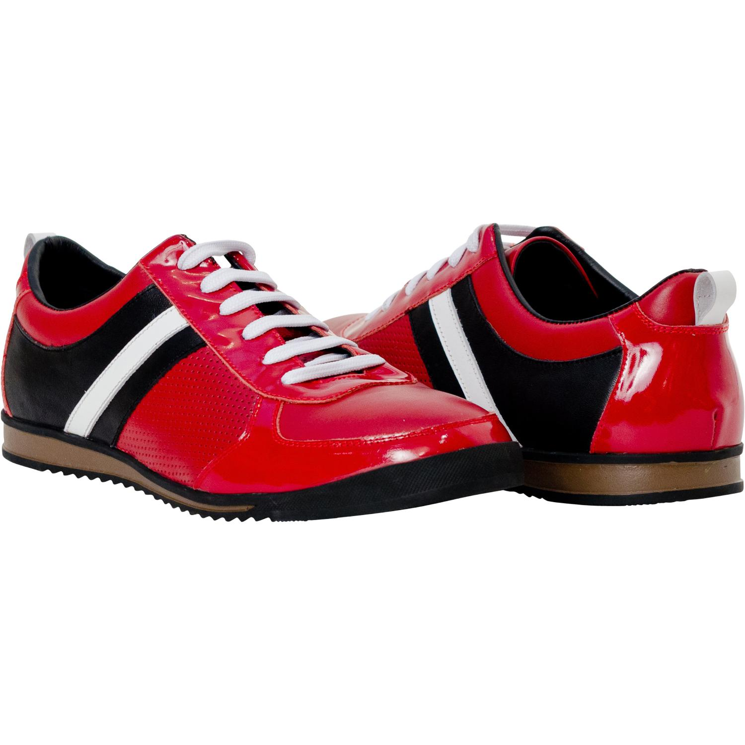 9795e59200ae Coco Red Two Tone Nappa Leather Low Top Sneakers