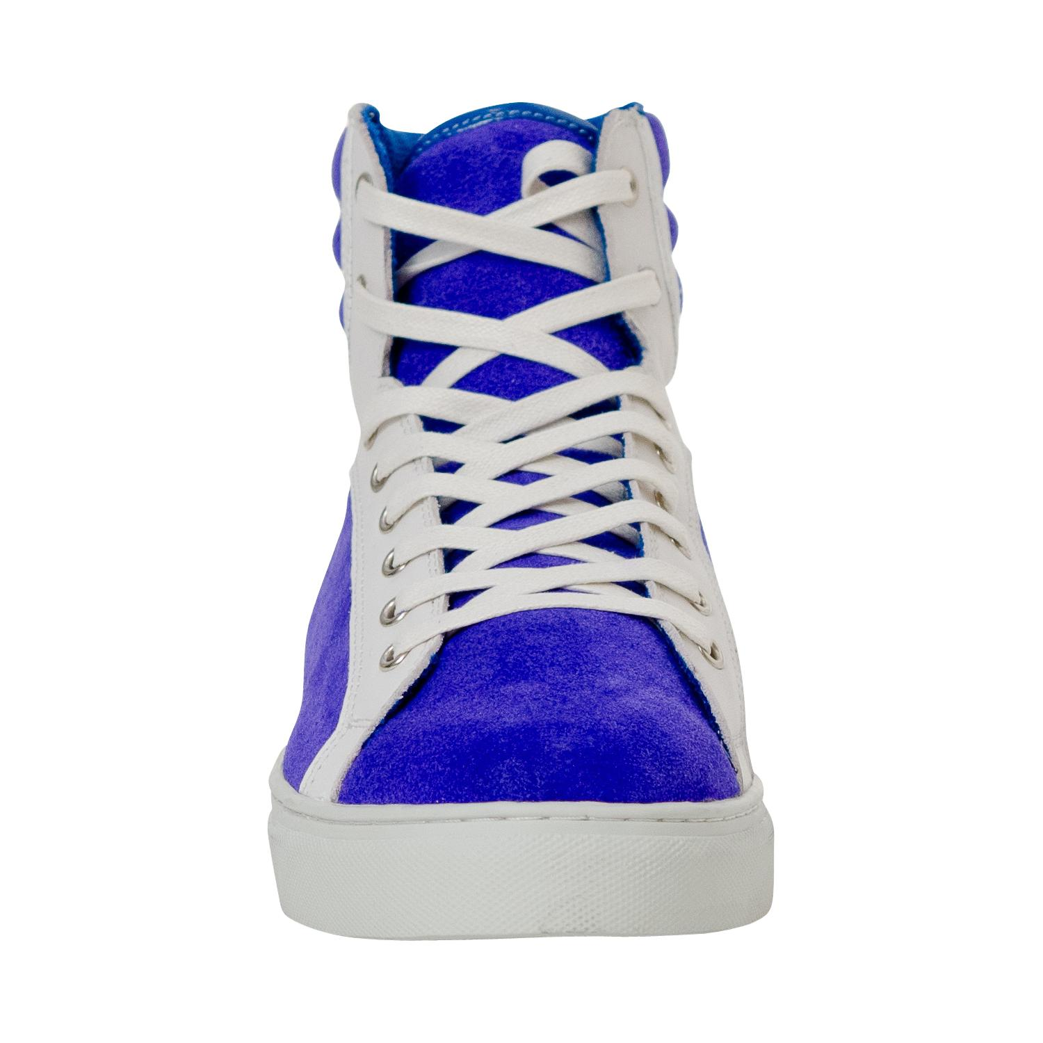 Shannon Royal Blue Two Tone Suede High Top Sneakers