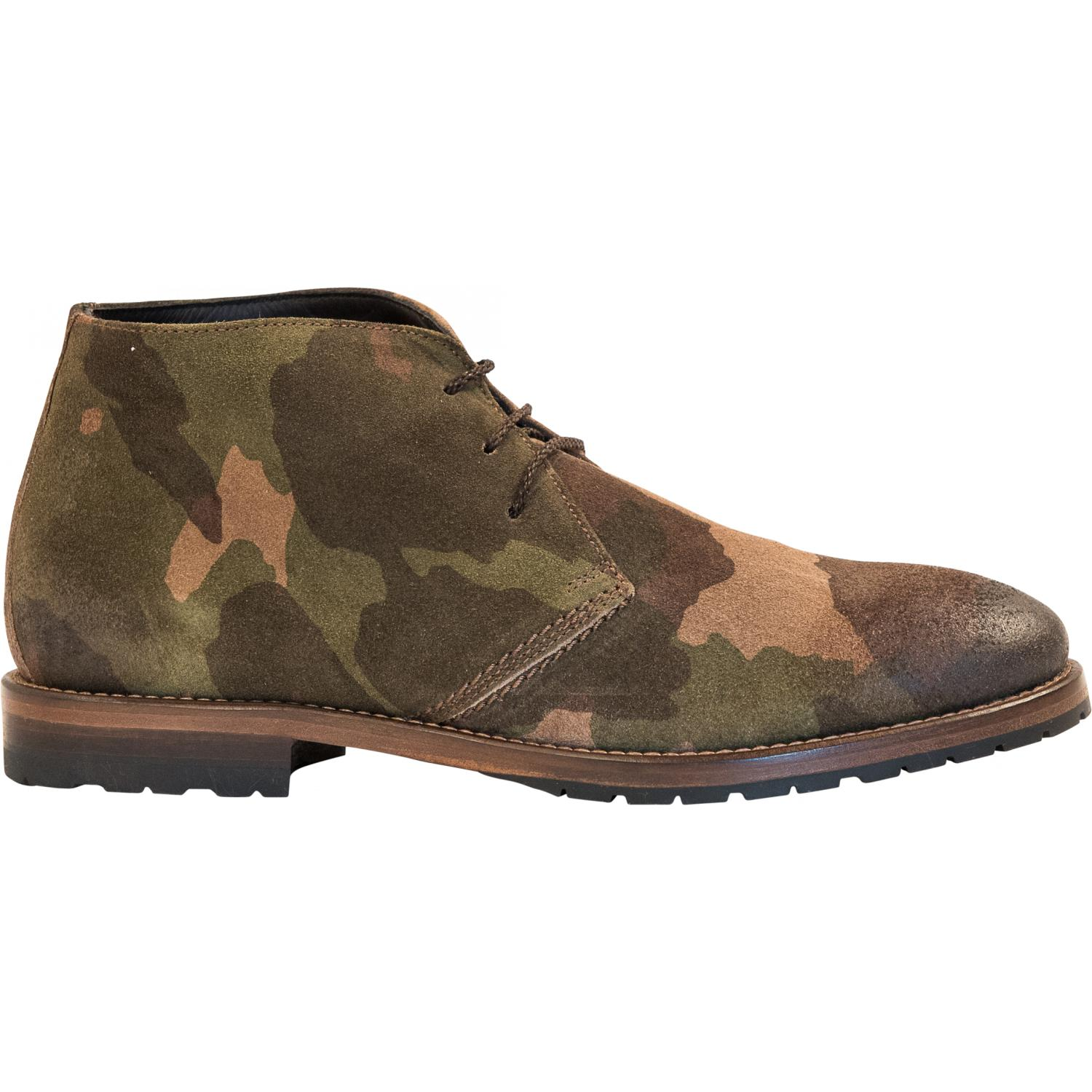 Brenda Camouflage Quot Hunting Quot Suede Desert Chukka Boots