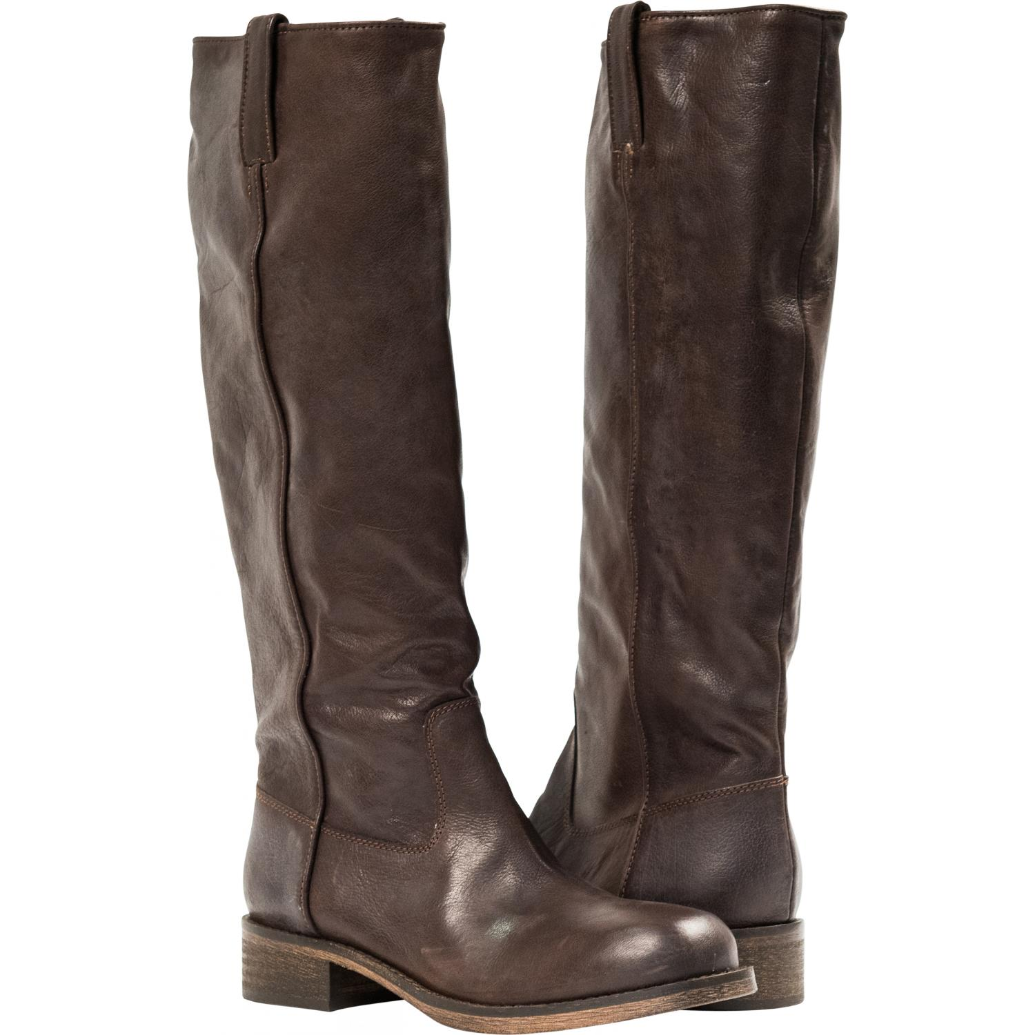 Arya Dark Brown Quot Moro Quot Nappa Leather Tall Boots Paolo Shoes