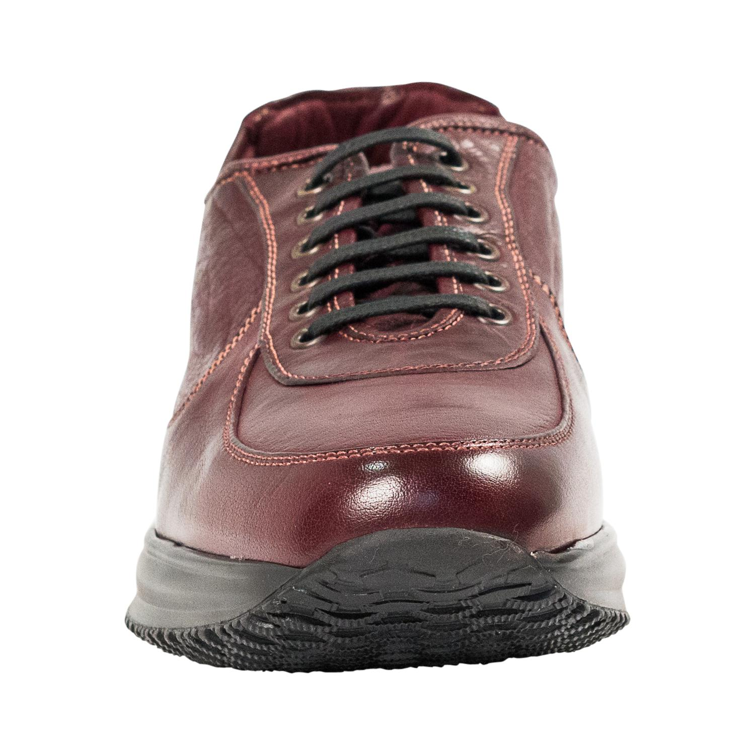 Maximo Oxblood Red Nappa Leather Thick Rubber Sole