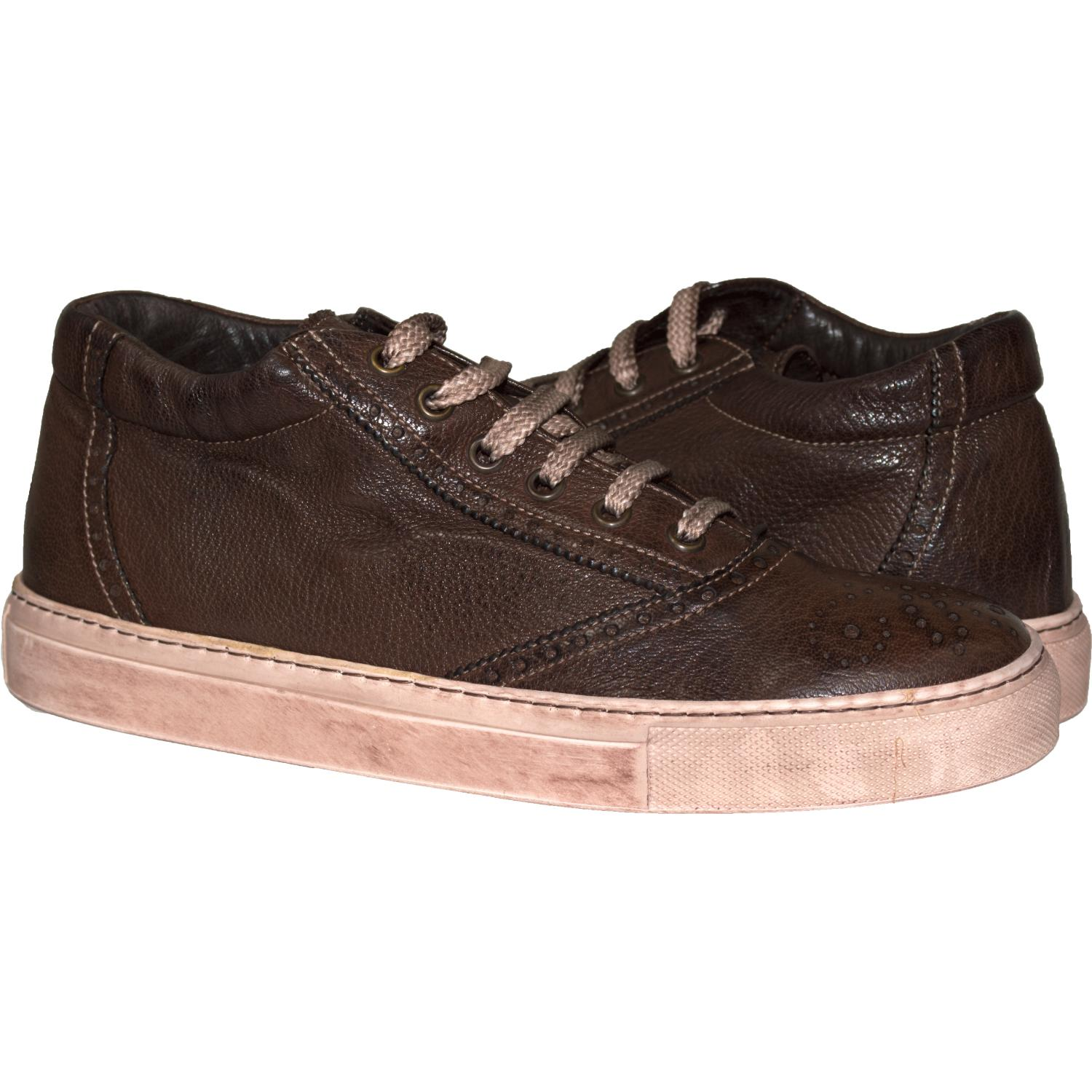 8bc871853bec3e Victoria Dip Dyed Dark Brown Low Top Sneakers
